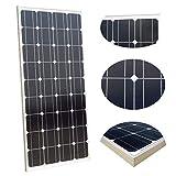 ECOWORTHY 100 W Solarpanel,12 V, monokristallines Photovoltaik-PV-Modul zum Aufladen von 12-Volt-Batterie in Wohnwagen, Wohnmobil, Boot, Yacht