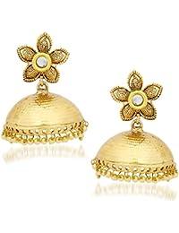 Amaal Jewellery Gold Plated Pearl Jhumka Earring Ear Rings For Girls Women Earring Necklace Jewellery Jhumki-J0115