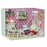 Fenteer 1:24 Skala Puppenhaus Mädchenzimmer Kinderzimmer mit Möbel Set