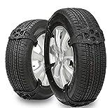 GEARS PANDA Chaînes de pneus 8pcs Universal Snow tire Chains anti-dérapante pour voiture SUV camion hiver conduite noir