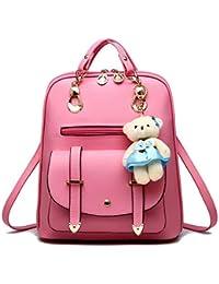 2778dda9d51b Premium 2018 New Women Leather Backpacks Students School bags for Girls  Teenagers Travel Rucksack Black Color