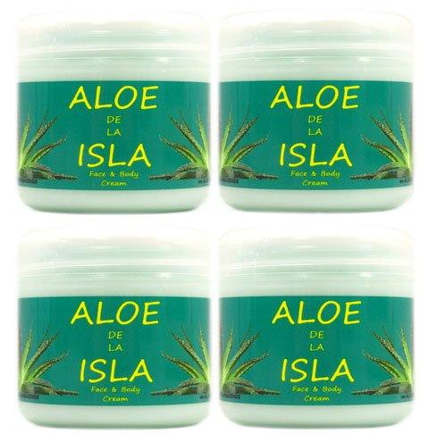 Aloe de la Isla crema de cara y cuerpo con Aloe Vera 300ml x 4 unidades