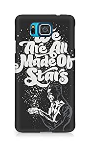 Amez designer printed 3d premium high quality back case cover for Samsung Galaxy Alpha (We are all made of stars)
