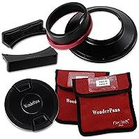 """Fotodiox WonderPana FreeArc XL Kit de Support de Filtre avec Bouchon/Supports WonderPana 80 8""""/21 cm pour Objectif Canon EF 11-24 mm f/4L USM Full Frame 35 mm Noir"""
