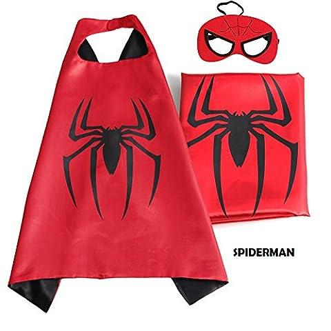 Superhero Cape mit gratis Maske für Kids–Party Kostüm