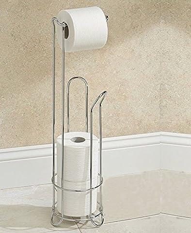 Denny International® Chrome Wire Frame Bathroom Toilet Paper Roll Holder Standing 3 Roll Storage