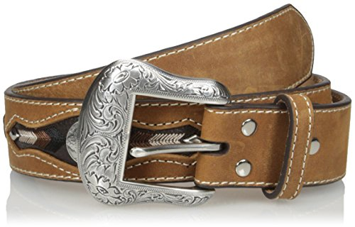 Nocona Men's Buffalo Concho Inlay, Medium Brown, 40 - Nocona Concho