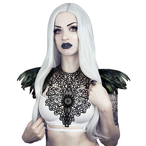 Swan Kostüm Wie Black - Homelex Gotisch Weiß Wirklich Feder Epaulette Schulter Flügel Für Männer Damen, Ym-19, Einheitsgröße