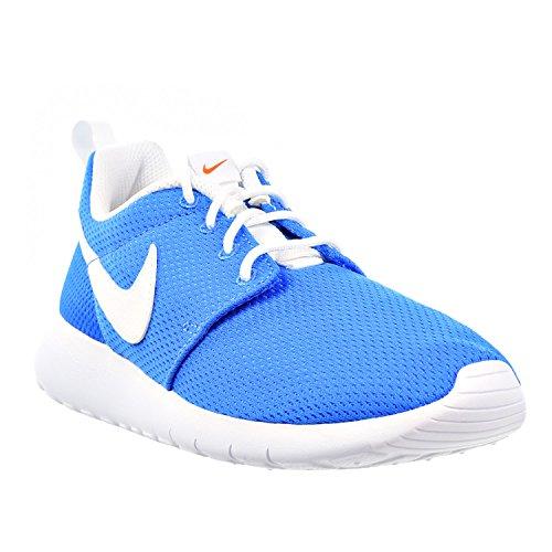 Nike Roshe One (GS) Scarpe da Ginnastica, Unisex - Bambino photo blue-white-safety orange