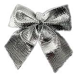 NUOLUX 24Pcs archi albero Bowknots Natale decorazione ornamento spilla Pin Decor (argento)