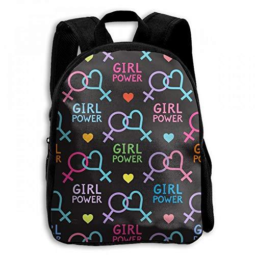 ADGBag Lesbian Feminist Rainbow Student School Backpacks Canvas Book Bag Casual Daypack Travel For Children Mochila para niños