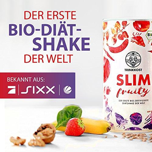 TRINKKOST SLIM 3 Dosen - Erster Bio Diät-Shake der Welt der auch noch gut schmeckt - Bekannt aus dem TV -Abnehmen war noch nie leckerer - fruchtig kalorienarm gesund sättigend als Mahlzeitenersatz