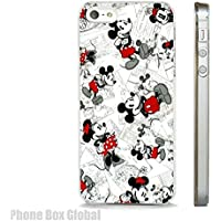 VINTAGE MICKEY & MINNIE MOUSE DISNEY COMIC STRIP CLEAR PHONE CASE FITS APPLE IPHONE (8)