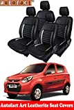 #7: Autofact Art Leather AF03 Car Seat Covers for Maruti Alto 800 (2013 to 2018) (Black / Silver)