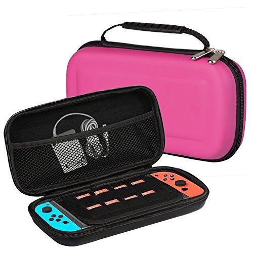 Estuche Portátil Nintendo Switch, J&D Maleta de Viaje con Compartimiento Doble Todo...