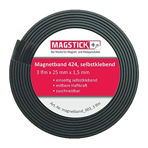 Preisvergleich Produktbild easydruck24de 3 Meter Magnetband Breit Selbstklebend MAGSTICK 424 I magnetband_003 I Magnet-Klebeband zuschneidbar für Haushalt Büro Steelbook Stanzschablonen