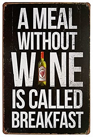 Wine Vintage Funny Home decor Tin Sign Retro Metal Bar Pub Poster 12X18 Inches