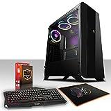 Fierce Enforcer RGB Gaming PC Bundeln - Schnell 6 x 3.9GHz Hex-Core AMD Ryzen 5 2600, 1TB Festplatte, 16GB von 2666MHz DDR4 RAM / Speicher, NVIDIA GeForce GTX 1050 Ti 4GB, X370 Gaming Plus Hauptplatine, GameMax Aurora RGB Computergehäuse, HDMI, USB3, Wi - Fi, Perfekt für Wettkampfspiele, Windows nicht Enthalten, Tastatur maus (VK/QWERTY), 3 Jahre Garantie 962594