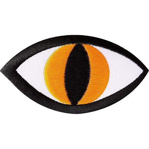 Monster Eye Embroidered Iron on Badge/Sew On Patch für Jeans Biker Jacke Tasche (Snake Eye Kostüme)