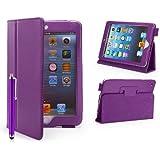 32nd - Étui Apple iPad Mini 1, 2 et 3 [Book Wallet] Housse Cuir PU et Fonction Support - Violet