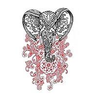 BESTPICKS Large Waterproof Fashion Temporary Tattoo Sticker Decal- ELEPHANT- 21 X 15 cms Sheet