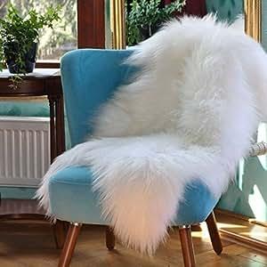 Peau d'agneau Islande Blanc 100-110 cm