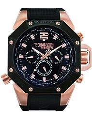 TECHNO Sport Hombre Chrono Reloj–Rose Oro/Negro