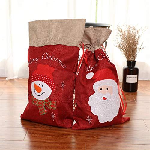 Topanke 2 Piezas Navidad De Arpillera Sacos De Papá