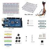 Sanzo® ELECTRONICS Starter Kit para Arduino Mega 2560Breadboard Jumper Wire, foto Resistencia Resistencia de, botón Zumbador Batería Cable