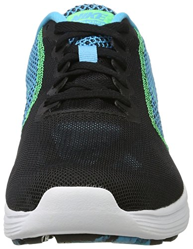 Nike Herren Revolution 3 Laufschuhe Schwarz (Black/electro Green/chlorine Blue/white)