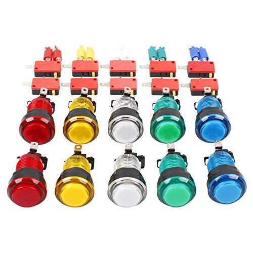 EG STARTS 10x neue LED beleuchtet Arcade-Tasten mit Mikroschalter Mame Multicade Jede Farbe von 2 Stück (Multicade Arcade-maschine)