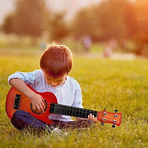 Wishtime Gitarre Ukulele Musikinstrumente Spielzeug mit 4 Saiten für Kinder Lernspiezeug (Farben in Random)