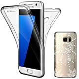 Coque Galaxy S7, Leathlux Coque Gel Samsung S7 Silicone Case Avant et Arrière Intégral Full Protection Cover Transparent TPU Housse Anti-rayures pour Samsung Galaxy S7 Etui
