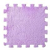 DOLDOA 6 Stück EVA Eco Puzzle Teppich Mosaik Fliesen Wohnzimmer Kissen Nachttisch Teppich (lila)