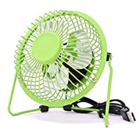 Bahia Vista Small USB Desktop Fan, connection to PC or laptop, in 6 different colours green Green