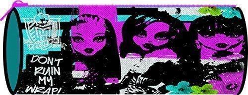 Monster High estuche con forma de barril, con cremallera