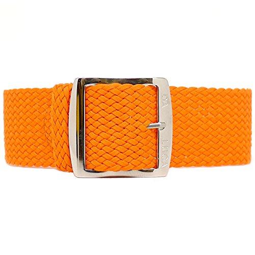 Fibbia cinturino Perlon Daluca-arancione (lucido): 18mm