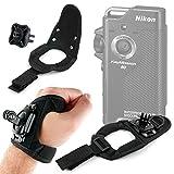 DURAGADGET Cinturino da Polso/Guanto + Adattatore per Nikon Keymission 80 | 360 | 170