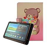 Coque Etui Flip Case Cover pour Tablette Artizlee ATL-21/Plus 10'',Yuntab V101H/K03/K107 10.1',iRULU eXpro 1Plus 10.1'/iRULU Walknbook 1 10.1',Archos 101E Neon 10.1'/Archos 101B Oxygen 10'/Archos Tablette 101c 10.1',Alldaymall 10',Chuwi Hi10 10 ',Dragon Touch X10 10',Lexibook LexiTab 10 10.1',BEISTA 10,1 pouces,Logicom L-ement 1043 BTK 10.1' Pochette de Protection-Belle Ours