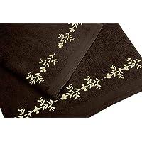 Juego de Toallas Bordadas 2 piezas 550gr CENEFA Nº5 (Chocolate)