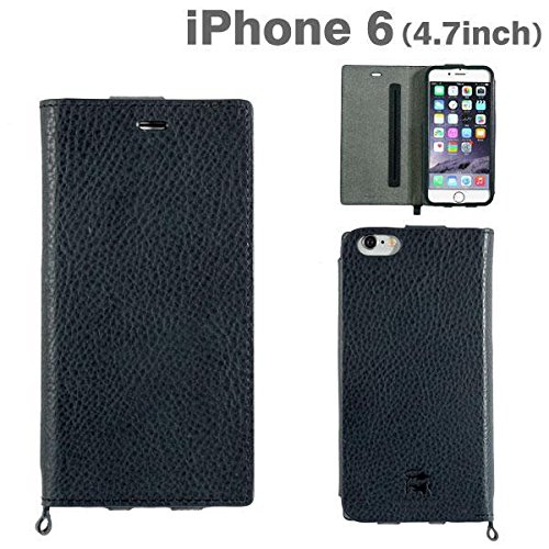 (Hamee Original) High Quality Genuine Leather -Leather Wallet Premium Flip Cover Case-Galgano Leather Diary Case by Badalassi Carlo-(Premium Diary)**Retail Packaging for iPhone 6 / iPhone 6s - Original (Navy)