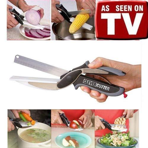 Clever Cutter–Cuchillo cocina tabla cortar integrada:
