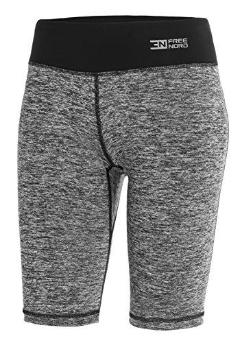 FITTECH GYM Damen Thermoaktiv Legging Leggins Strumpfhose Tights Shorts Laufhose Kurz Fitness Yoga Pilates Outdoor Radsport Running...