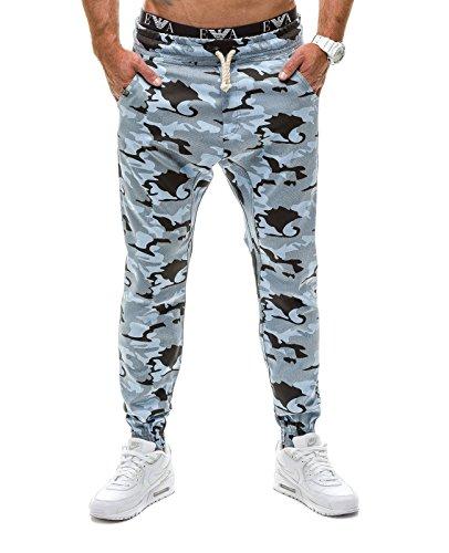 BOLF Men's Camo Joggers Sweatpants Ribbed Streetwear Mix [6F6]