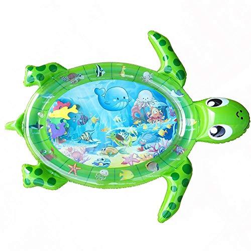 hemicala Aufblasbare Wassermatte Baby Schildkröte-Muster Auslaufsicheres Umweltfreundliches PVC Bauch Zeit Spielmatte Wasser Für Kinder Und Kleinkinder