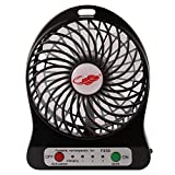 #7: House Of Gifts Mini Usb Rechargeable Fan with Power Bank and Flashlight, Cooler Cooling Desktop Fan Mini. for Traveling, Fishing, Camping, Hiking, Backpacking, Baby Stroller