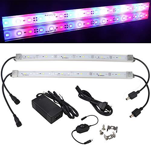 LTRGBW 5730 SMD 12V 7,2W 18 LEDs Rot + Weiß + Blau LED Aluminium Starre Streifen Bar Licht Wasserdicht IP67 mit Netzteil Dimmer (2-Pack 30cm) (Starre Led-licht Bar)
