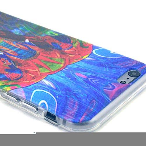 Etche TPU Housse pour iPhone 6/6S 4.7 pouces,Étui Coque Housse Pour iPhone 6/6S 4.7 pouces,coloré imprimé couvercle du boîtier de caoutchouc de silicone pour iPhone 6/6S 4.7 pouces + 1x Bleu style + 1 Pattern #6
