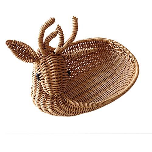 Hand-woven Rattan-speicher-korb,snacks Spielzeug Aufbewahrung Körbe,für Das College Dorms,büros,schränke,kinderzimmer Etc.-a- 30x23x10cm(12x9x4inch) -