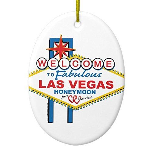 Neuheit Weihnachten Baum Decor Las Vegas Honeymoon Keramik Ornament, oval Weihnachtsschmuck Ornament Crafts